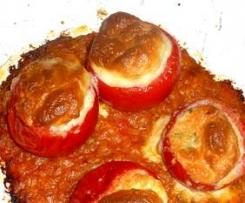 Tomates farcies au mascarpone et au chèvre en soufflé
