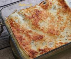Lasagnes poulet, champignons et ricotta