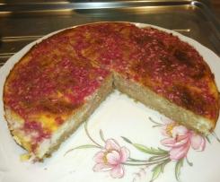 Cake à l'avoine, au fromage et à la grenade
