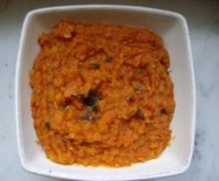 Dalh (plat indien à base de lentilles corail et épices)