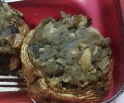 Champignons farcis aux légumes