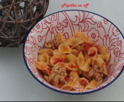 One pot pasta poivrons grillés et chèvre
