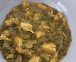 Poulet curry et légumes