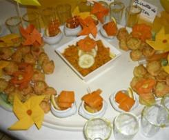 Petits choux au curry à la mousse de carottes - Agence de Laon