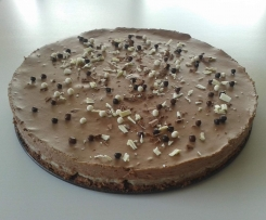 Gâteau craquant aux trois chocolats