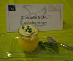 Mousse de courge butternut et sa chantilly au bleu