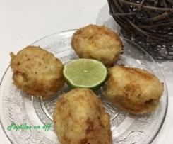 Banatages (croquettes de pommes de terre et poulet)