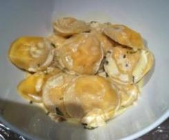 Ravioles de saumon, crème estragon