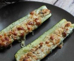 Courgettes farcies aux carrés frais et tomates séchées - Ig bas