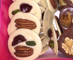 Mendiants Provençaux au chocolat blanc