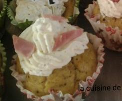 Cupcake jambon moutarde