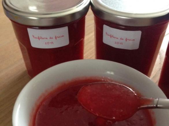 confiture de fraise allegee thermomix