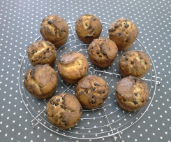 muffins chocolats noisettes
