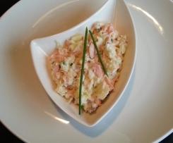 Duo pommes saumon en salade