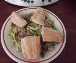Saumon sur embeurée de chou vert