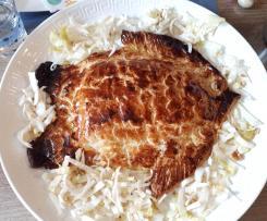 saumon sur fondue de poireau feuilleté forme poisson (Pâques)