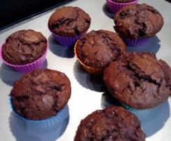 Muffins fondants croquants chocolat-banane