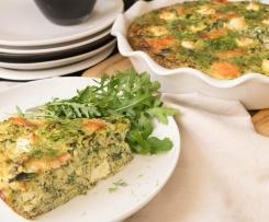 Quiche saumon épinards et quinoa