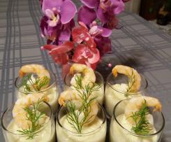 Verrine de chou-fleur et crevettes