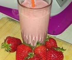 Milshake aux fraises super rapide et tellement bon!