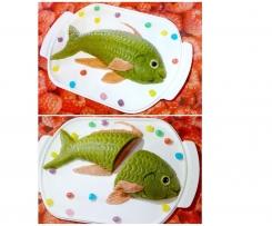 le poisson d 'avril vert et rose
