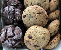 Cookies Black&White / Croustillants aux pépites de chocolat