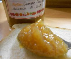 CONFITURE D'ORANGE A LA CANNELLE