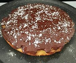 Gâteau au citron nappé de chocolat