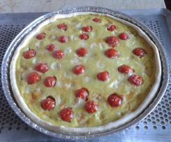 quiche aux tomates cerises et maroilles