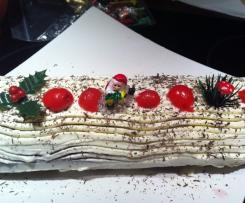 Spécial fêtes - Bûche de Noël façon forêt noire
