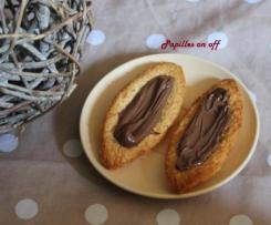 Barquettes au nutella sans oeufs,  spécial allergique