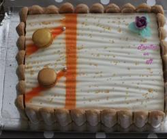 Entremets chocolat blanc et abricots