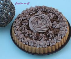 Gâteau feuillantine pralinée et nutella