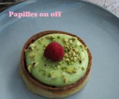 Tartelettes entremets pistache et framboises