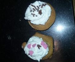 Cupcakes vanille ou citron de Mathilde à la crème de mascarpone