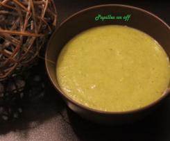Soupe brocolis et carottes au chèvre
