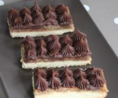 Ondulés noisette (tarte amandes noisettes et ganache chocolat)