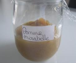 Compote bébé pommes mirabelles