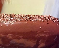 Glaçage miroir chocolat noir