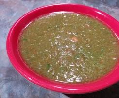 Sauce tomate poivron vert
