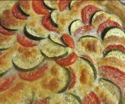 Tarte courgettes tomates