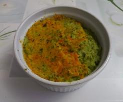Flans de brocolis et carottes nouvelles