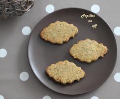 Biscuits salés à la farine de pois chiches et au thym