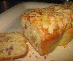 Cake de fête (foie gras-magret fumé-amandes)