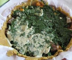 Tarte santé aux légumes et au tofu soyeux( recette à bas indice glycémique)