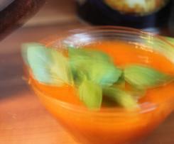 Soupe tomate basilic de l'été