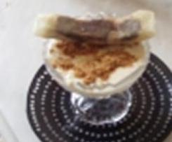 Crème de bananes à la mascarpone avec sa brick banane chocolat