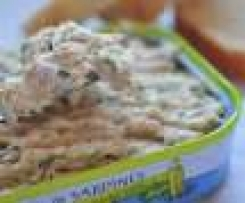 Rillettes de sardine, herbes et cottage cheese