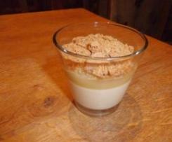 Verrines crème bergamote / compote et spéculos