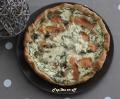 Quiche au fromage frais et saumon fumé